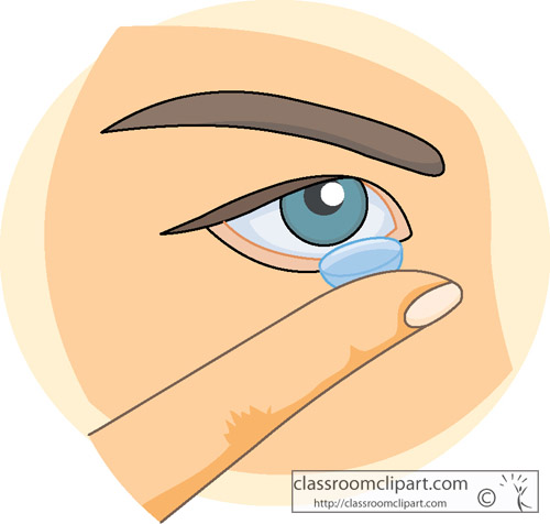Anatomy Clipart- Contact_lens