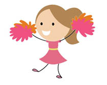 cheerleading animated clipart animated gifs rh classroomclipart com Cheerleading Quotes cheerleading clipart images free