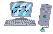 Image result for computer welcome back signs for school