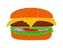 Animated food. Clipart gifs