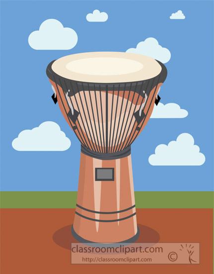 african-djembe-drum-clouds-blue-sky-clouds-vector-clipart-image.jpg