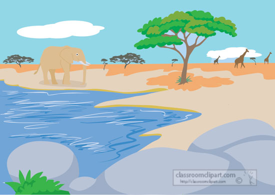 african-savanna-with-elephant.giraffe-clipart.jpg