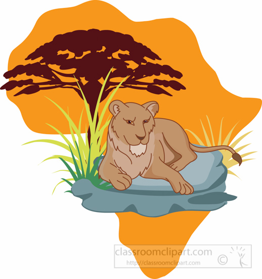 african-wild-life-lioness-sitting-on-rock-africa-clipart-6525.jpg