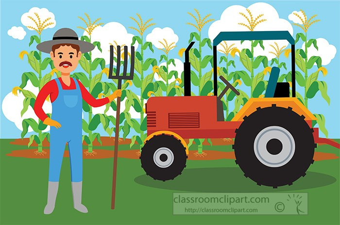 farmer-with-pitch-fork-standing-near-tractor-and-corn-crop-clipart.jpg
