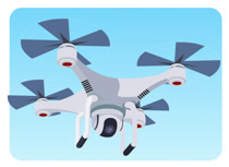 Quadcopter Drone Camera In The Sky Clipart 2 Size 67 Kb From Aircraft