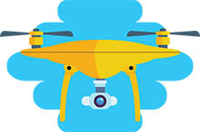Uav Drone With Camera Clipart Size 72 Kb