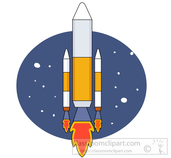 Aerospace Clip Art : Aircraft aerospace space rocket in clipart