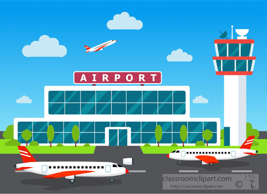 aircraft clipart illustrationofairportairtraffic