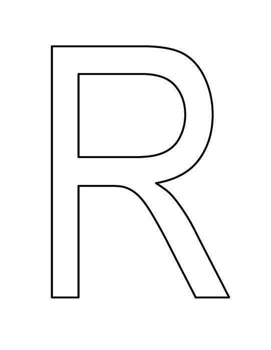 Black White Clipart- R_large_pic