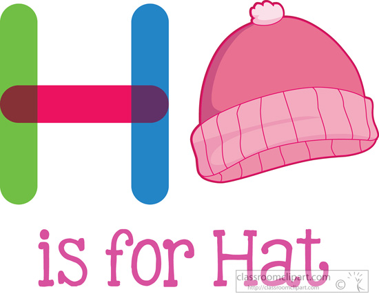 h is for hat clipartjpg