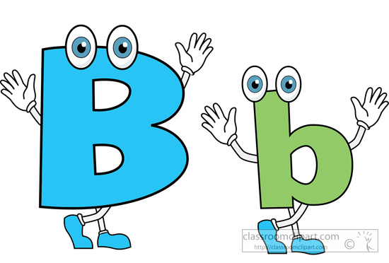 Alphabets Clipart Letter Alphabet B Upper Lower Case Cartoon