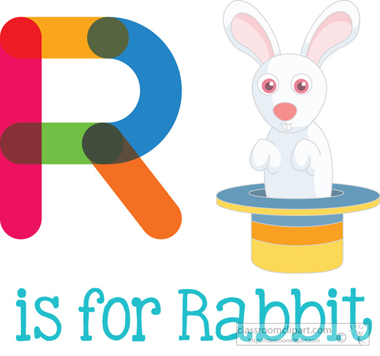 R Is For Rabbit Alphabets Clipart- r-i...