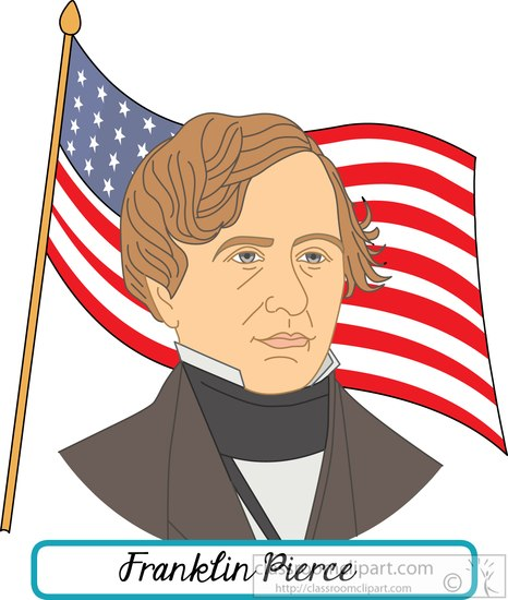 president-Franklin-Pierce-with-flag-clipart.jpg