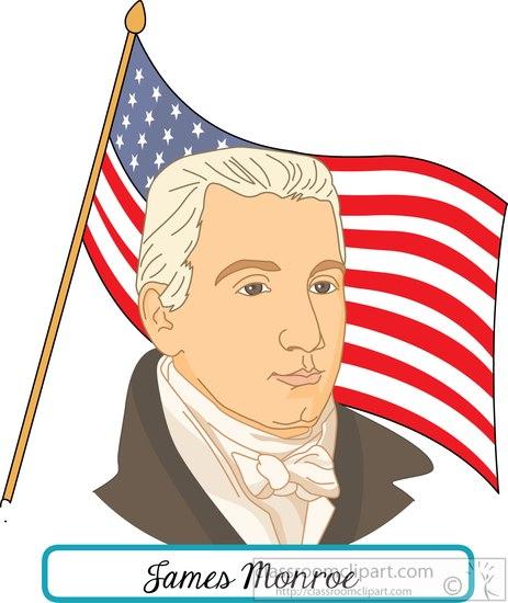 president-James-Monroe-with-flag-clipart.jpg