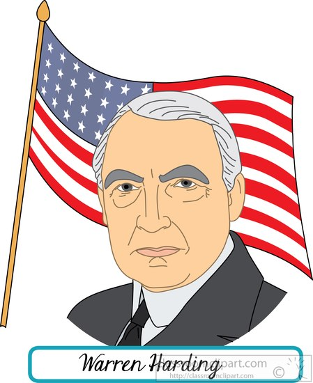 president-Warren-Harding-with-flag-clipart.jpg
