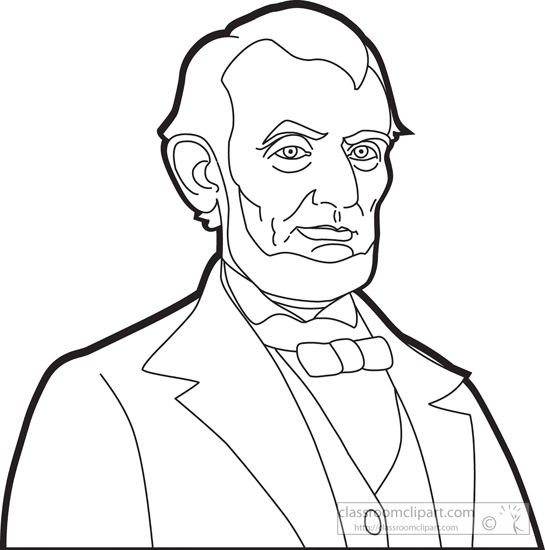 ... : president-abraham-lincoln-outline-clipart : Classroom Clipart