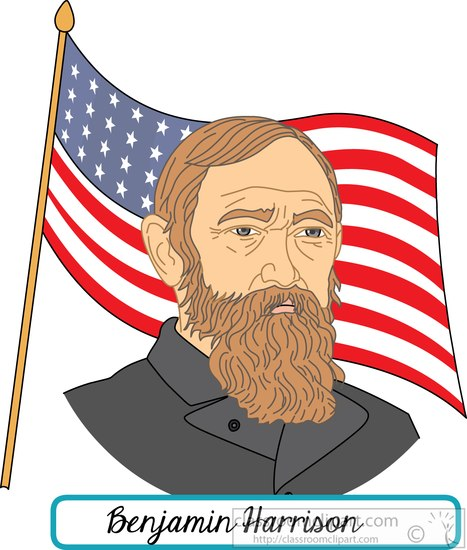 president-benjamin-harrison-with-flag-clipart.jpg