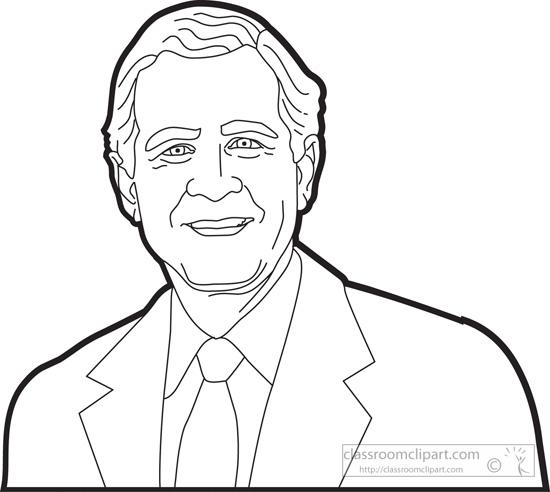 American Presidents : president-george-w-bush-outline ...