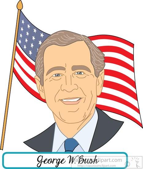 American Presidents : president-george-w-bush-with-flag ...
