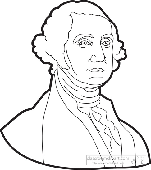 Clip Art George Washington Clipart search results for george washington pictures president outline clipart black and white size 81 kb from american president
