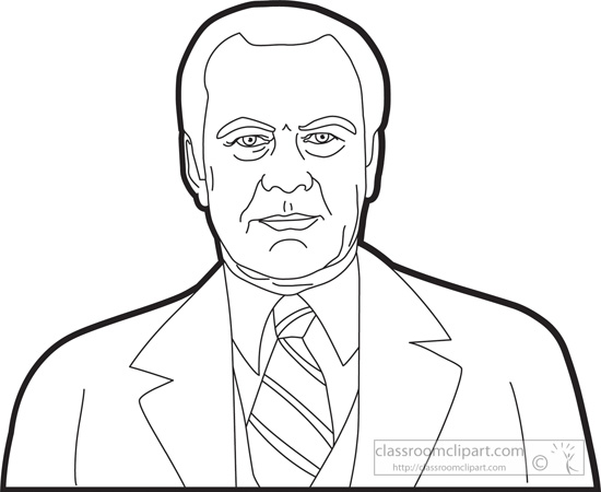 coloring pages of gerald ford - photo#11