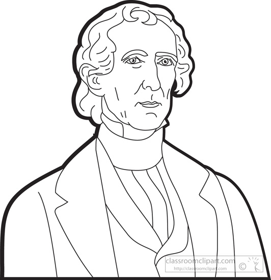 president-john-tyler-clipart-outline.jpg