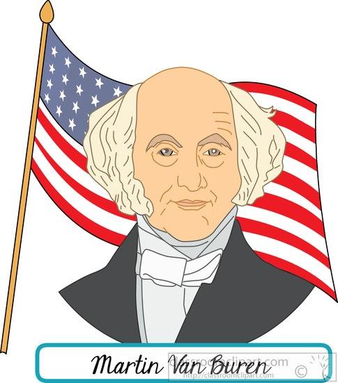 president-martin-van-buren-with-flag-clipart.jpg