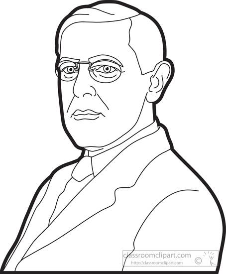 woodrow wilson coloring pages - photo#15