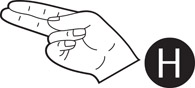 H In Sign Language Sign Language Letter H Black