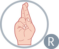 sign language letter r size 64 kb