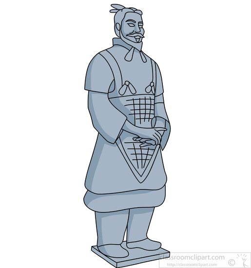 Ancient China Clipart Terracotta Warrior Ancient China