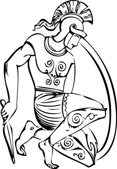 ancient greek soldier black outline clipart.jpg
