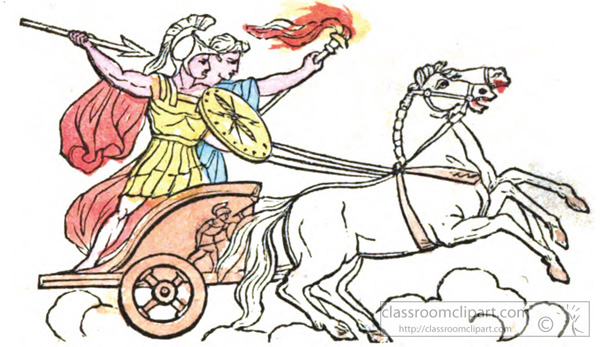 Roman Chariots Drawings Ancient Rome Clipart- ...