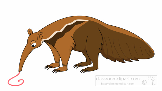 Anteater Clipart Giant Anteater Eating Clipart 1161