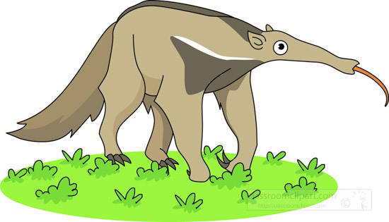 side-view-anteater-with-tongue-out-on-grass-clipart.jpg