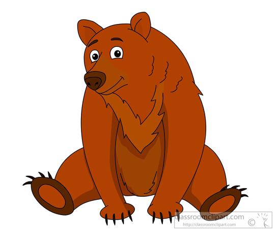 animal clipart bear clipart brown bear 910 classroom clipart rh classroomclipart com brown bear clip art images brown bear clip art free