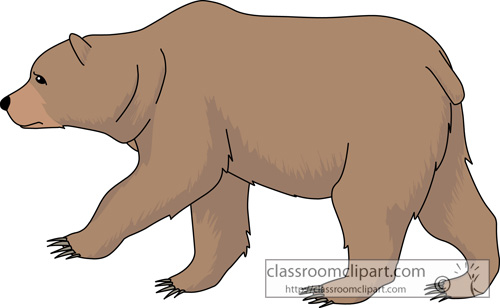 Cute grizzly bear clipart - photo#13