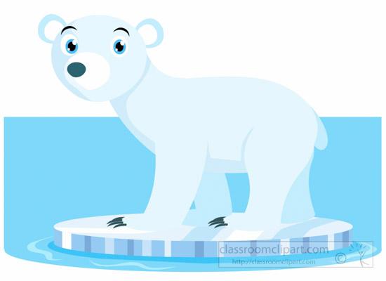 Bear Clipart : polar-bear-stadning-on-ice-clipart-6920 ...