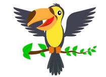 Wings bird. Free clipart clip art