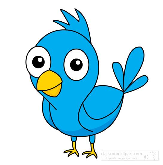 animal clipart bird clipart cute blue bird yellow beak rh classroomclipart com blue bird clip art to print free blue bird clip art free