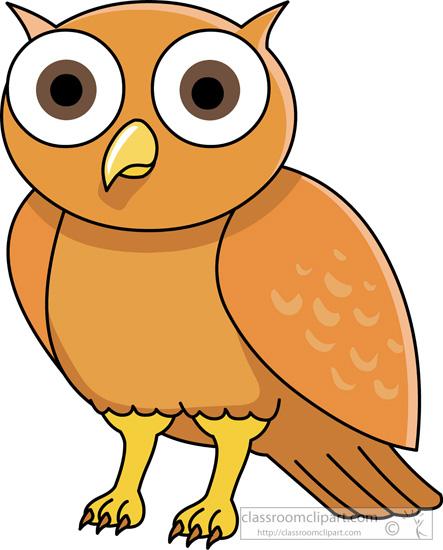 animal clipart bird clipart owl with big eyes classroom clipart rh classroomclipart com Baby Owl Clip Art Classroom Clip Art