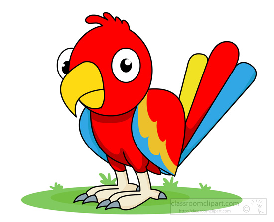 animal clipart bird clipart red blue parrot clipart 115 rh classroomclipart com clipart parrot parrot clipart images