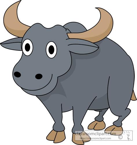 Buffalo Clipart : cute_water_buffalo_animal_07 : Classroom Clipart