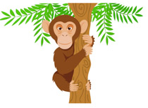 Free Chimpanzee Clipart - Clip Art Pictures - Graphics - Illustrations