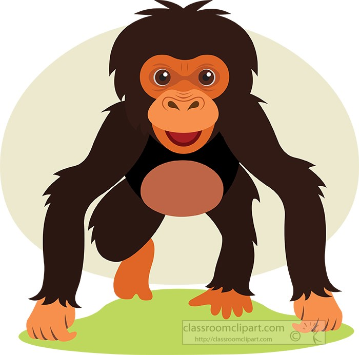 chimpanzee-baby-on-all-fours-animal-clipart.jpg