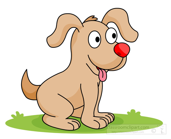 Dog Clipart : cute-happy-smiling-puppy : Classroom Clipart