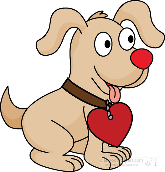 Dog Clipart Clipart - cute-puppy-with-heart-on-collar ...