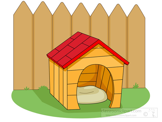 clipart of dog houses - photo #16