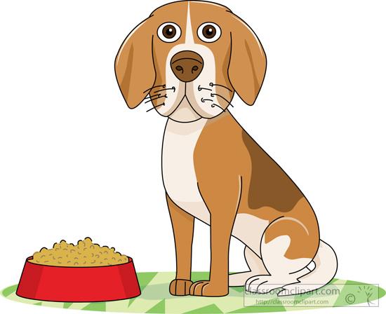Dog Clipart : dog-sitting-near-red-dog-food-bowl-2 ...