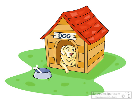 dog in doghouse clipart - photo #36